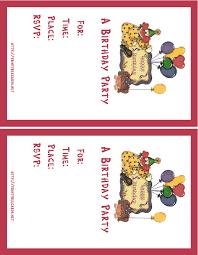 birthday card best free printable birthday invitation cards