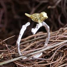 find more rings information about golden plated bird tree branch