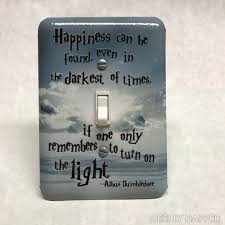 beach light switch covers harry potter dumbledore quote silver beach version light switch