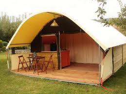 tente 4 chambres tente toile bois kibo 20m2 2 chambres terrasse couverte 7 50m2