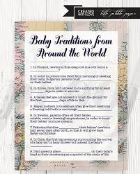 baby traditions around the world shower printable baby