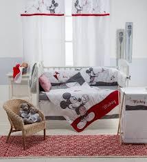Crib Bedding Sets Unisex Disney Gray Mickey 4 Crib Bedding Set Unisex Crib Bedding