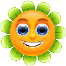 Smiley Flowers - smiling flower clipart