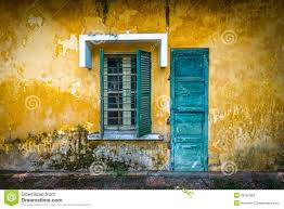 old and worn house on street in vietnam royalty free stock photos