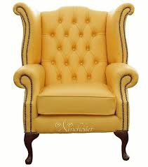 Leather Chesterfield Armchair Chesterfield Queen Anne High Back Wing Chair Uk Manufactured