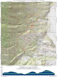Bitterroot Mountains Map Trails Missoula Montana
