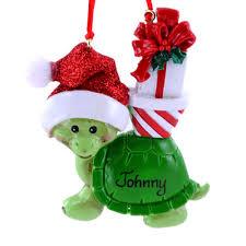 santa hat sea turtle tiki tropical ornament cape shore