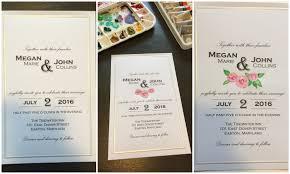 diy bride hand painted wedding invitations nerdy pretty cool