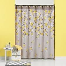 Yellow Gray Curtains Sunny And Bright Grey And Yellow Shower Curtain Neat Stuff