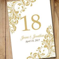 wedding table numbers template best table numbers templates products on wanelo