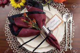 Thanksgiving Table Setting by Beautiful Thanksgiving Table Setting With Lace Doily Place Setting