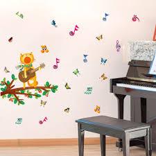 online get cheap guitar vinyl decal aliexpress com alibaba group kitten cat guitar music symbol twig wall sticker vinyl decal home paper art diy mural kids