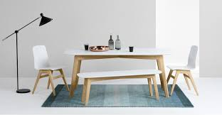 dining table and bench set dante dining table and bench set oak and white made com