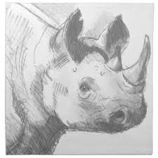 rhino cloth napkins zazzle