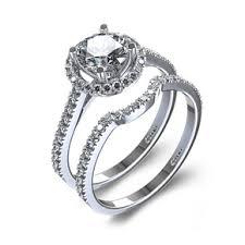 halo engagement ring settings platinum halo engagement ring set odba