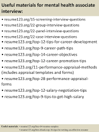 sample mental health resume mental health resume example