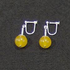 potara earrings clip on yellow jade potara fusion earrings z