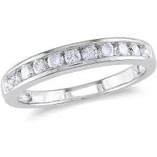 white gold eternity ring 1 2 carat t w channel set diamond semi eternity ring in 10kt