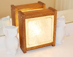 diy glass block nightlight in wood shelterness