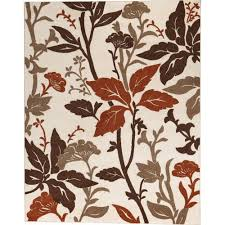 home decorators area rugs home decorators collection blooming flowers ivory rust 7 ft 10 in