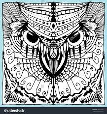 portrait owl owls head abstract bird stock vector 406172359