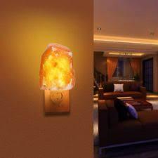 crystal plug in night light joysoul natural crystal himalayan salt l novelty night lights