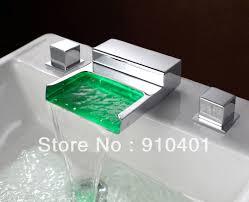 bathroom sink waterfall faucets with lighting interiordesignew com