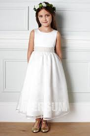 robe mariage fille robe simple cortège mariage fille blanchetaille perlée