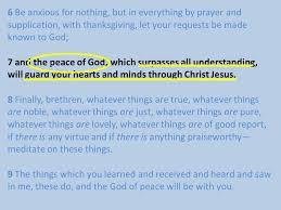 6 be anxious for nothing but in everything by prayer and
