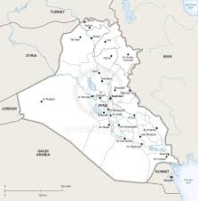 map of irak vector map of iraq political one stop map