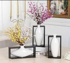 Wooden Vases Uk Modern Egg Shape With Wood Frame Ceramic Vase For Home Decor
