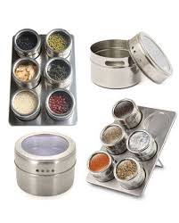 stainless steel magnetic containers multipurpose spice tin rack 6