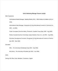 Senior Marketing Manager Resume Sample by Professional Manager Resume 49 Free Word Pdf Documents