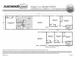 Fleetwood Manufactured Homes Floor Plans Fleetwood Homes Single Wide Floor Plans