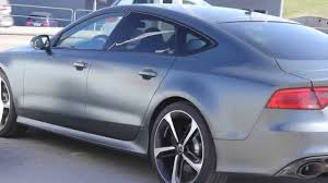 audi rs7 daytona grey matte in sunlight truly amazing color