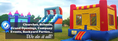 Backyard Inflatables Moonstruck Rentals Everything In Party Rentals