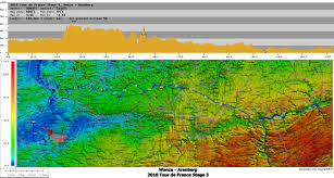 Tour De France Map by Topocreator Create And Print Your Own Color Shaded Relief