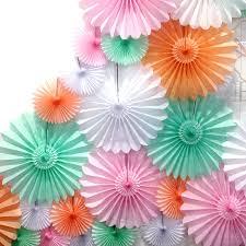 paper fan deluxe tissue paper fan by blossom notonthehighstreet