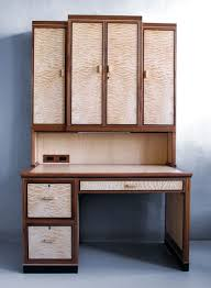 Maple Desk With Hutch Quilted Maple Desk