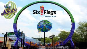 Six Flags Direction The Joker Chaos Coaster Pov Hd B Roll Six Flags Over Georgia