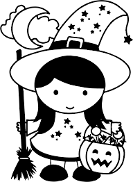 clipart cute halloween witch