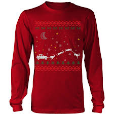 jeep christmas shirt 4x4 jeep wrangler off road ugly christmas sweater unisex crewneck