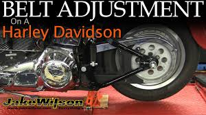 harley davidson belt inspection u0026 adjustment youtube