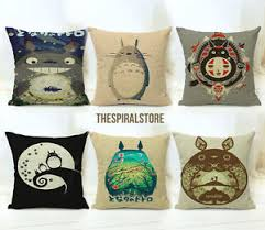 Studio Ghibli Decor Studio Ghibli Funda Cojin Cushion Case Pillow Mi Vecino Totoro My