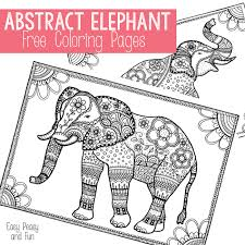 free elephant coloring pages adults easy peasy fun