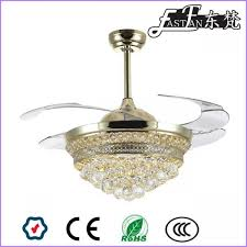 fan with retractable blades east fan 42inch retractable blade crystal ceiling fan with light