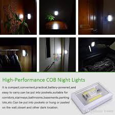magnetic battery operated led lights best magnetic mini cob led cordless light switch wall night lights