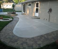 Patio Concrete Designs Gripping Flagstone Paver Patio Designs Tags Cement Patio Pavers