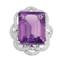 18ct white gold diamond amethyst elarie amethyst diamond ring 14ct white gold g20251418 grahams