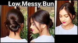 Simple N Easy Hairstyles by 1 Min Everyday Messy Low Bun With Back Puff Easy Hairstyle For